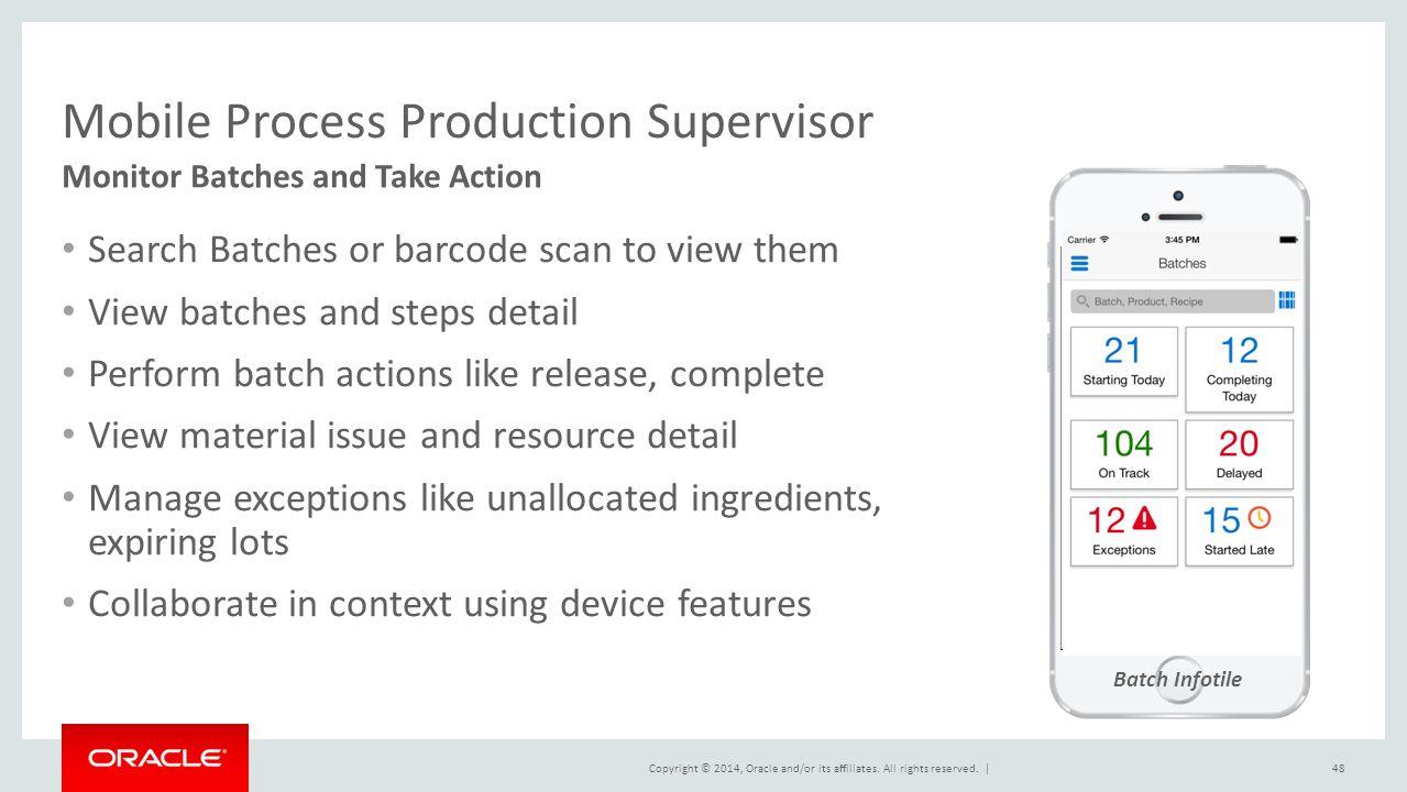 Mobile Process Production Supervisor