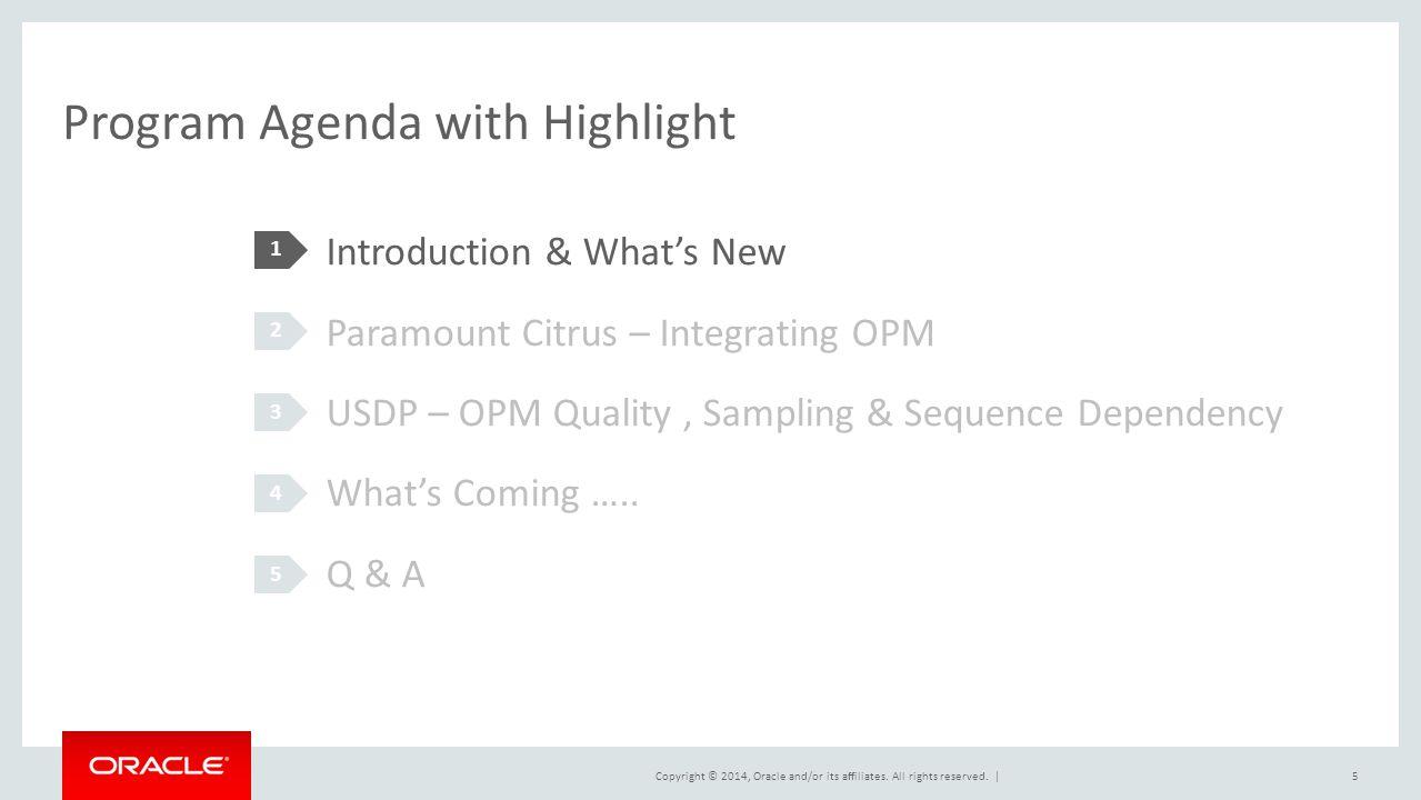Program Agenda with Highlight