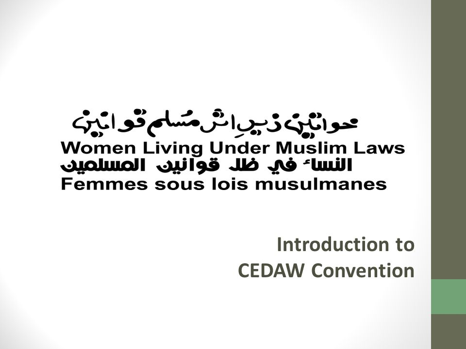 Introduction to CEDAW Convention