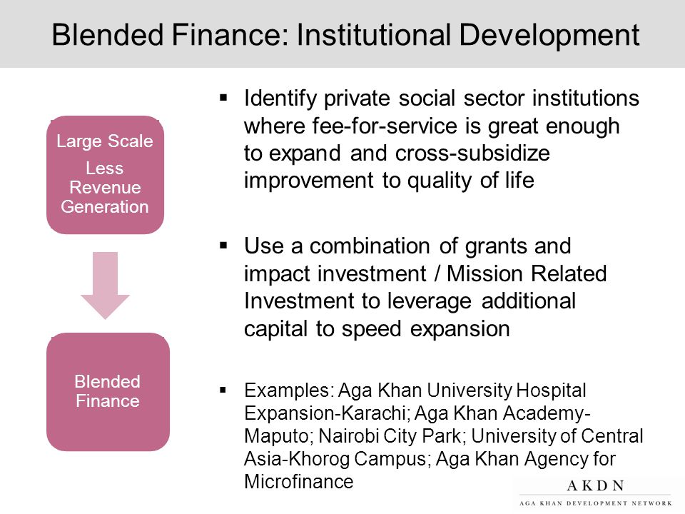 Blended Finance: Institutional Development