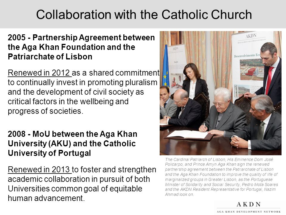 Collaboration with the Catholic Church