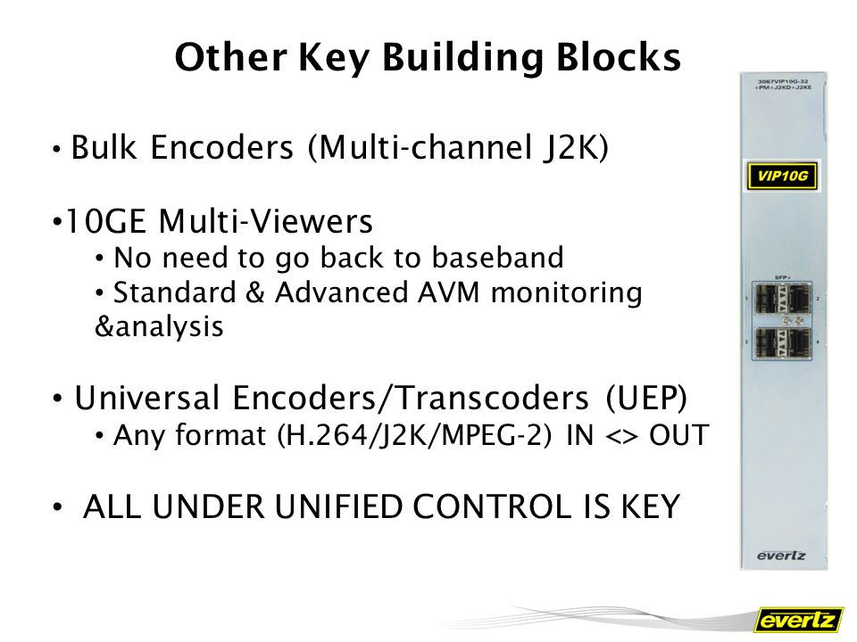 Other Key Building Blocks