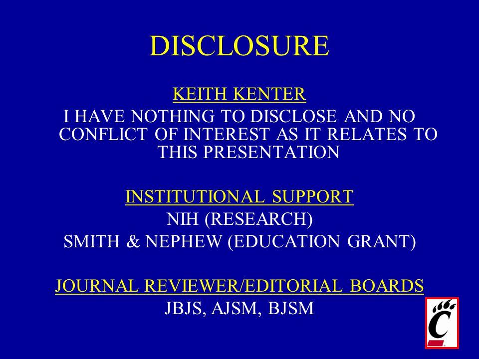 DISCLOSURE KEITH KENTER