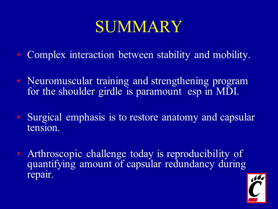 SUMMARY Complex interaction between stability and mobility.