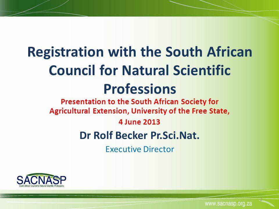Dr Rolf Becker Pr.Sci.Nat.