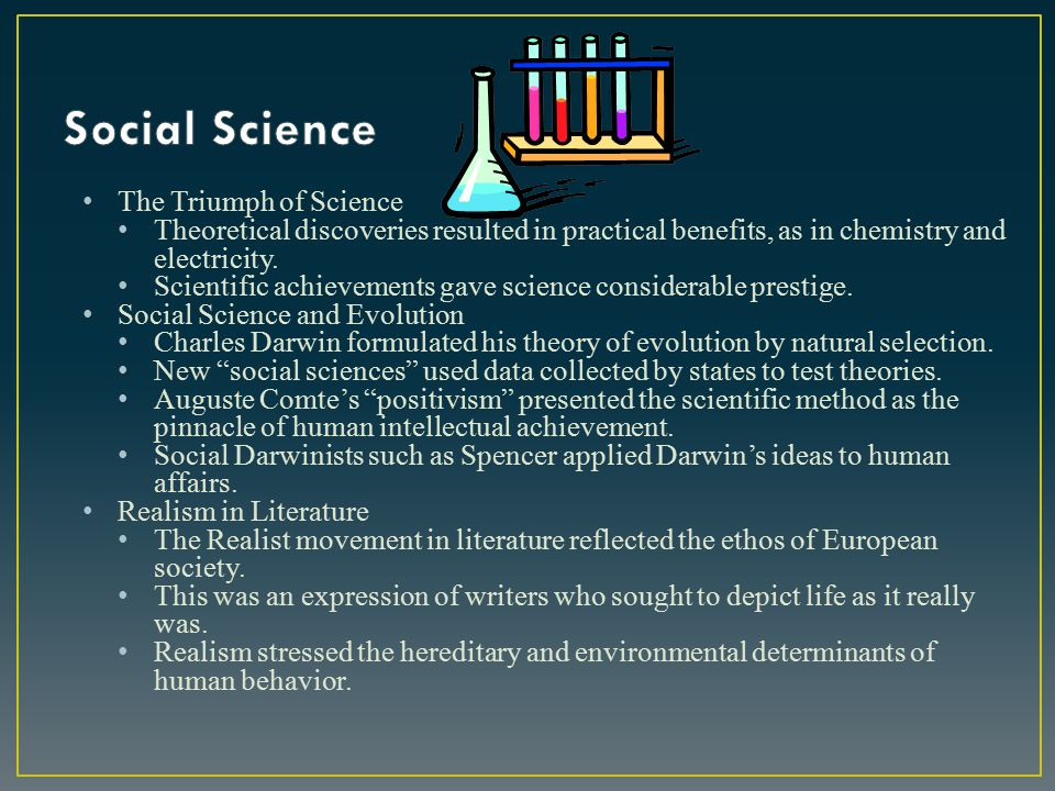Social Science The Triumph of Science