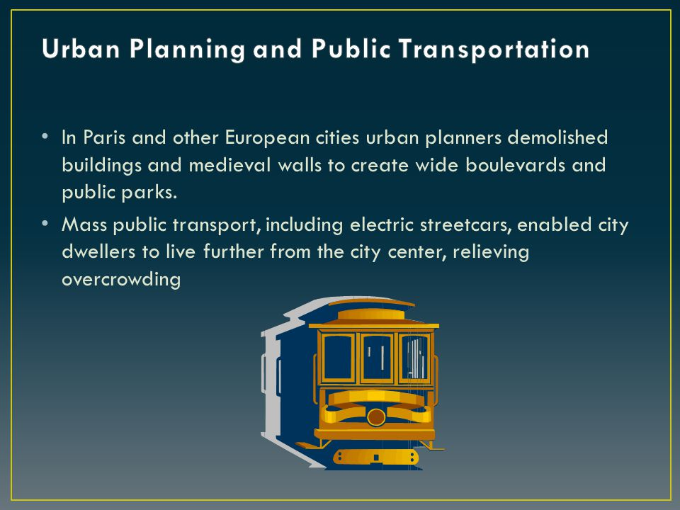 Urban Planning and Public Transportation