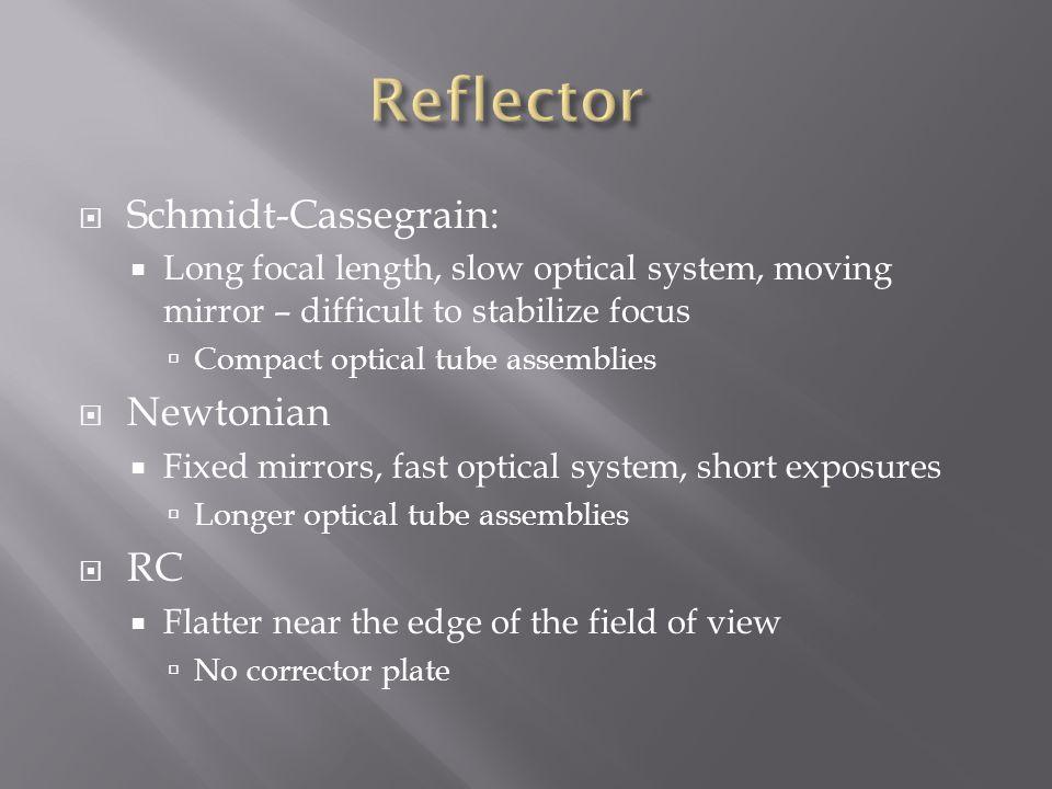 Reflector Schmidt-Cassegrain: Newtonian RC