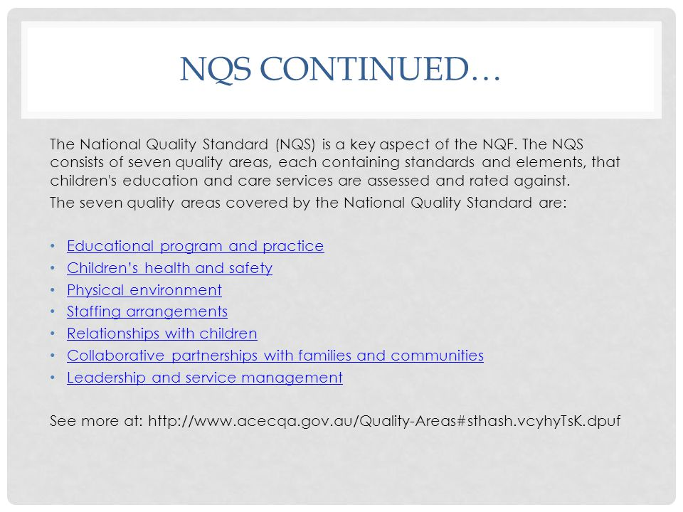 NQS Continued…