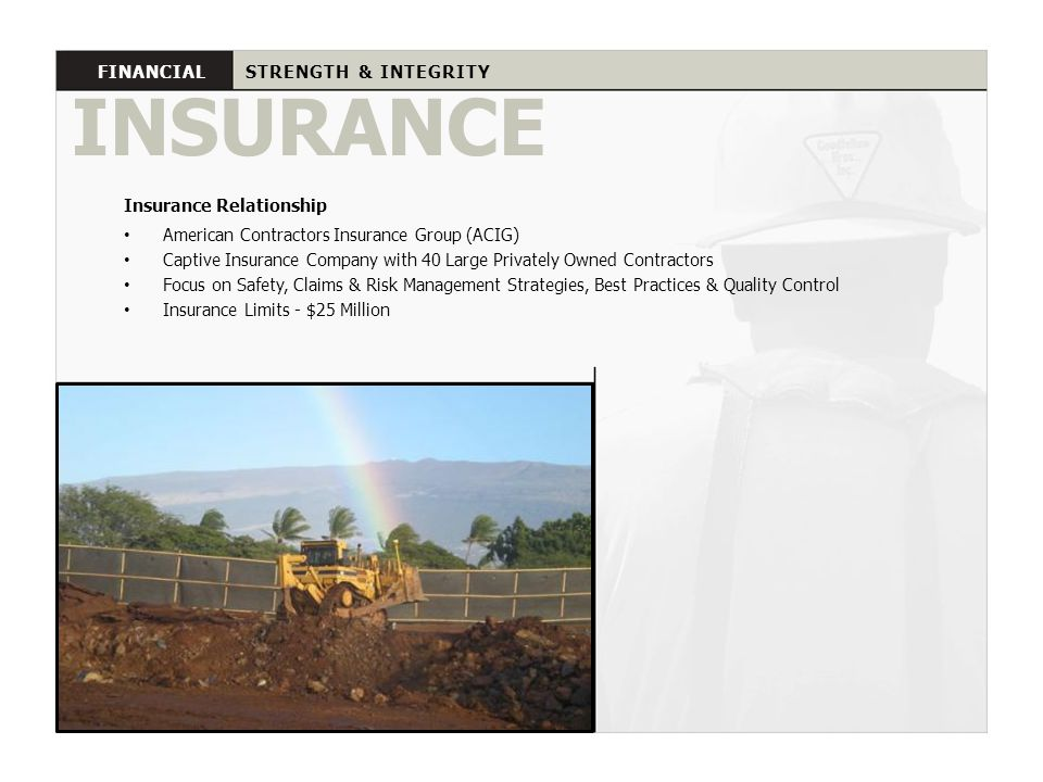 INSURANCE FINANCIAL STRENGTH & INTEGRITY Insurance Relationship