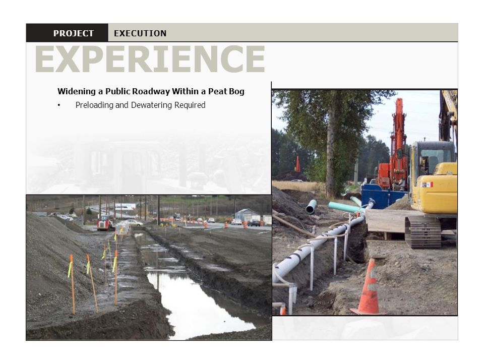EXPERIENCE PROJECT EXECUTION
