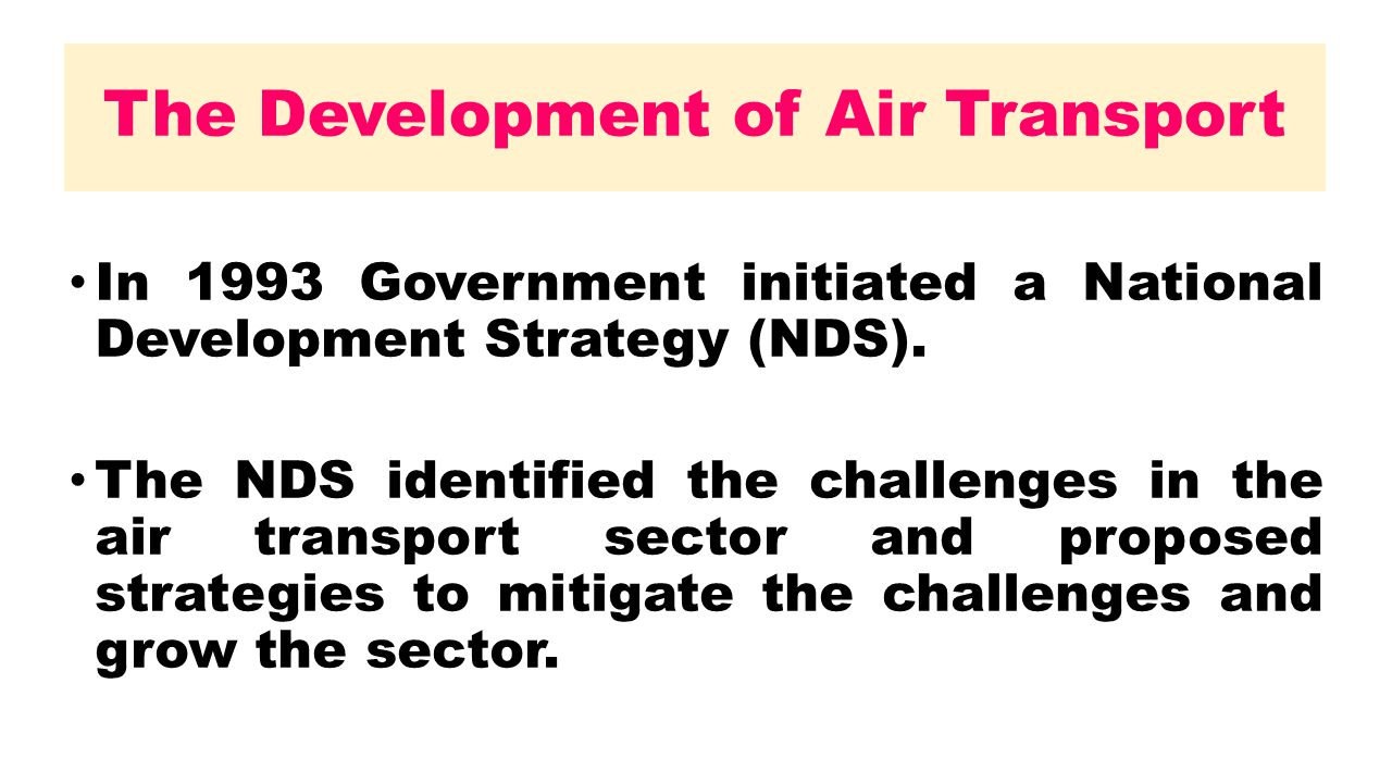 The Development of Air Transport