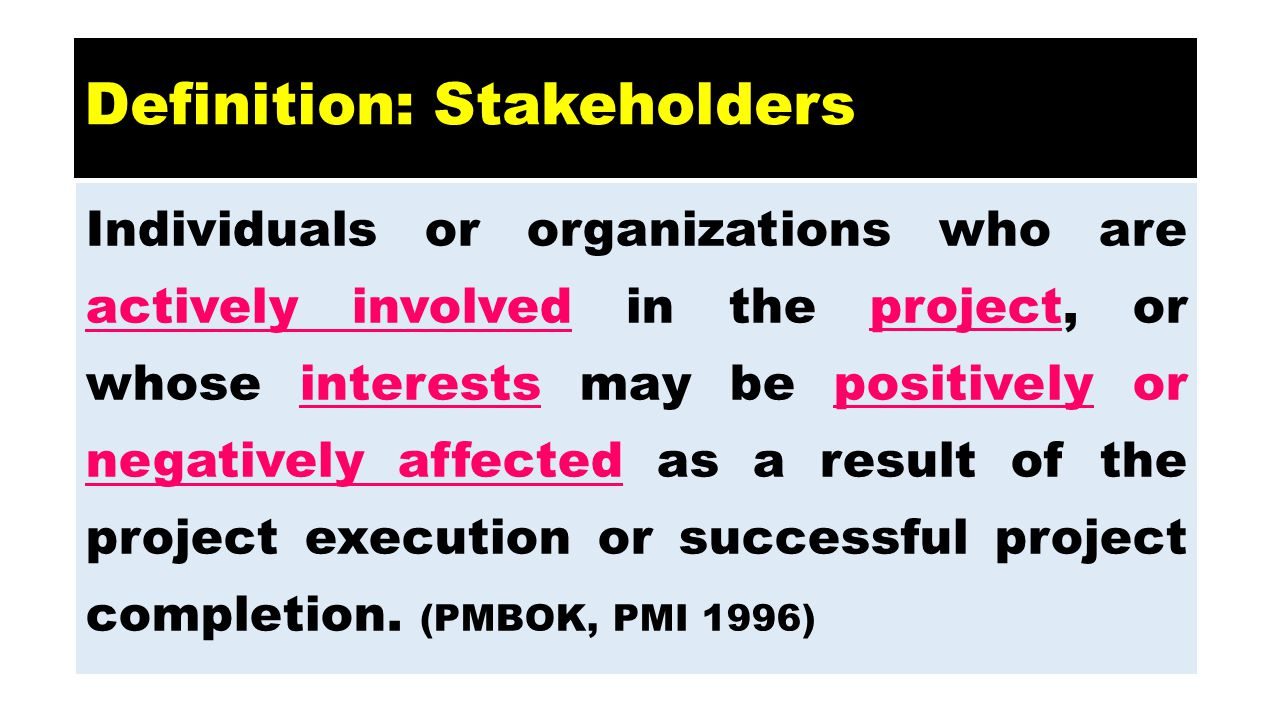 Definition: Stakeholders