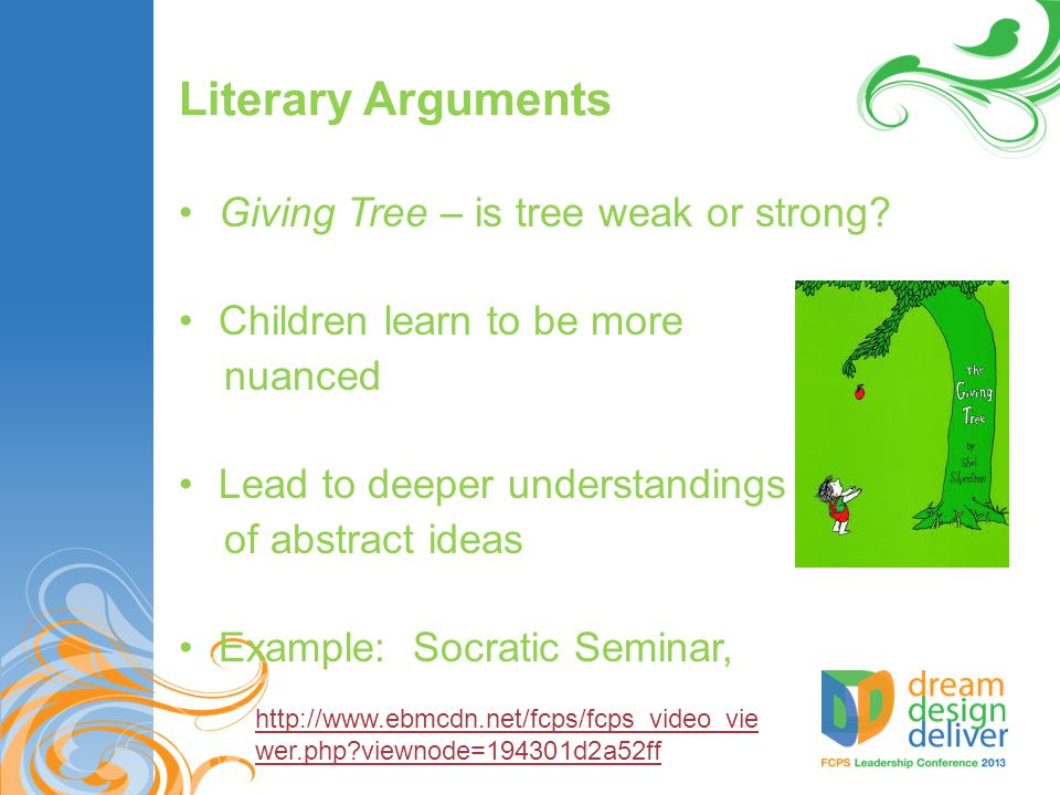 Literary Arguments Giving Tree – is tree weak or strong