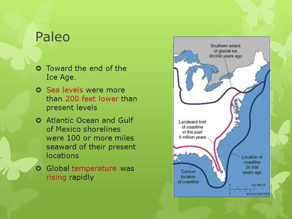 Paleo Toward the end of the Ice Age.