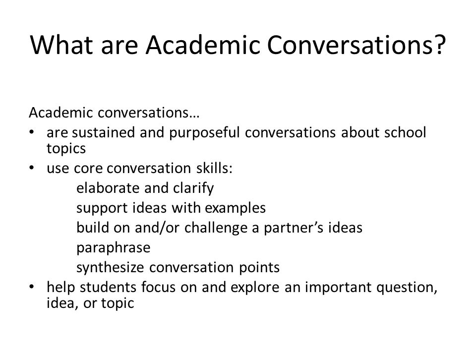 academic conversations ppt  what are academic conversations