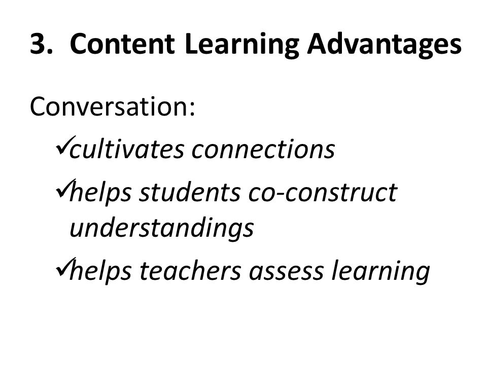3. Content Learning Advantages