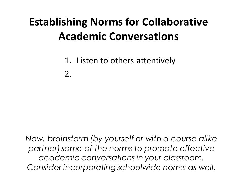 Collaborative Conversations In The Classroom ~ Academic conversations ppt download