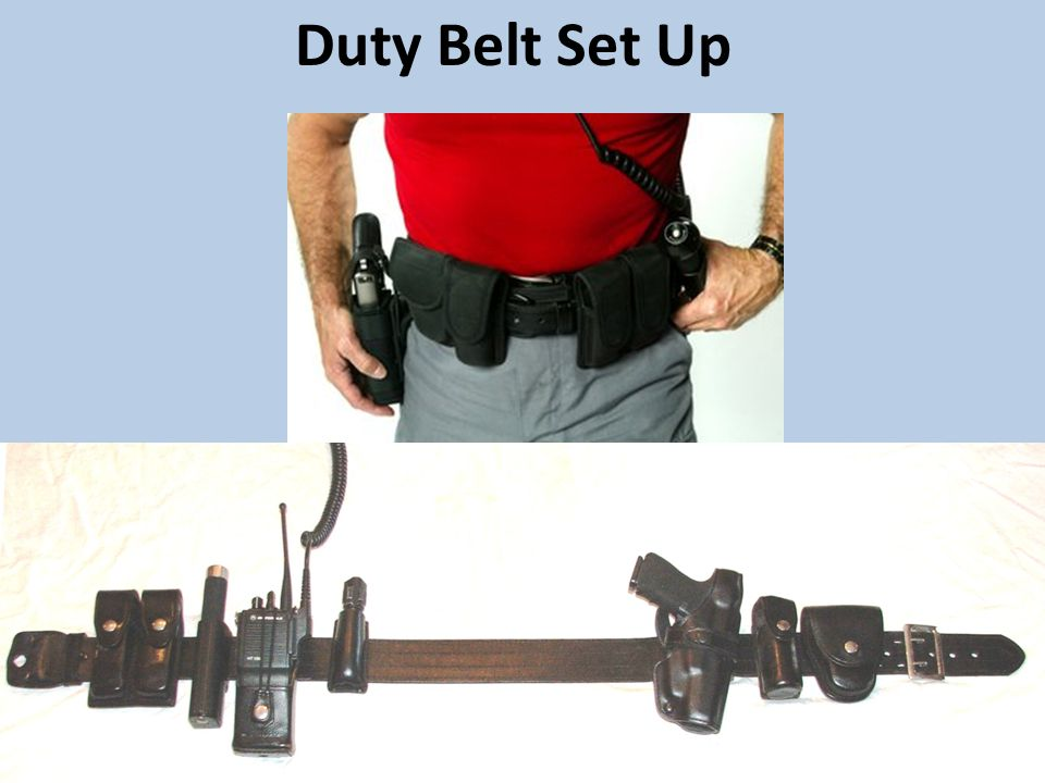 Duty Belt Set Up