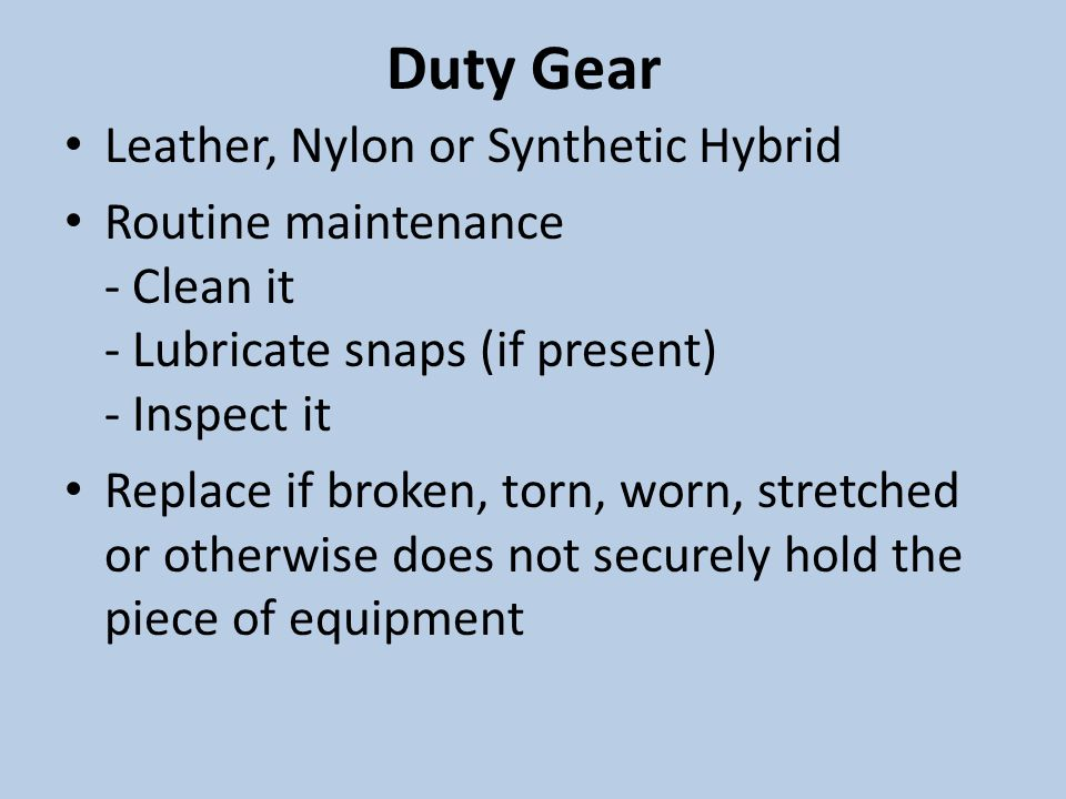 Duty Gear Leather, Nylon or Synthetic Hybrid