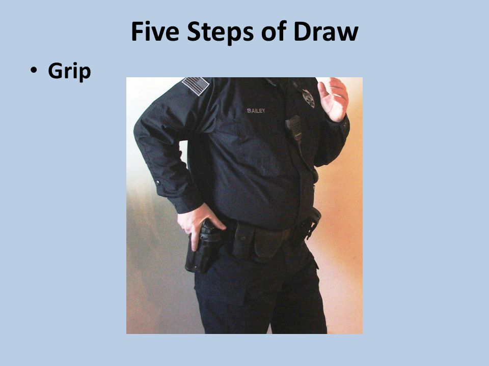 Five Steps of Draw Grip