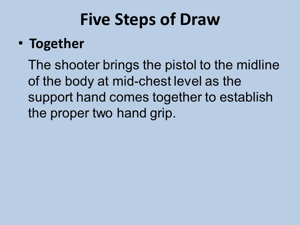 Five Steps of Draw Together