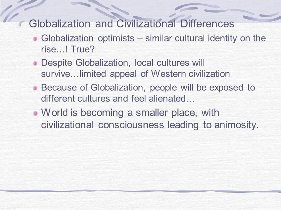 Globalization and Civilizational Differences