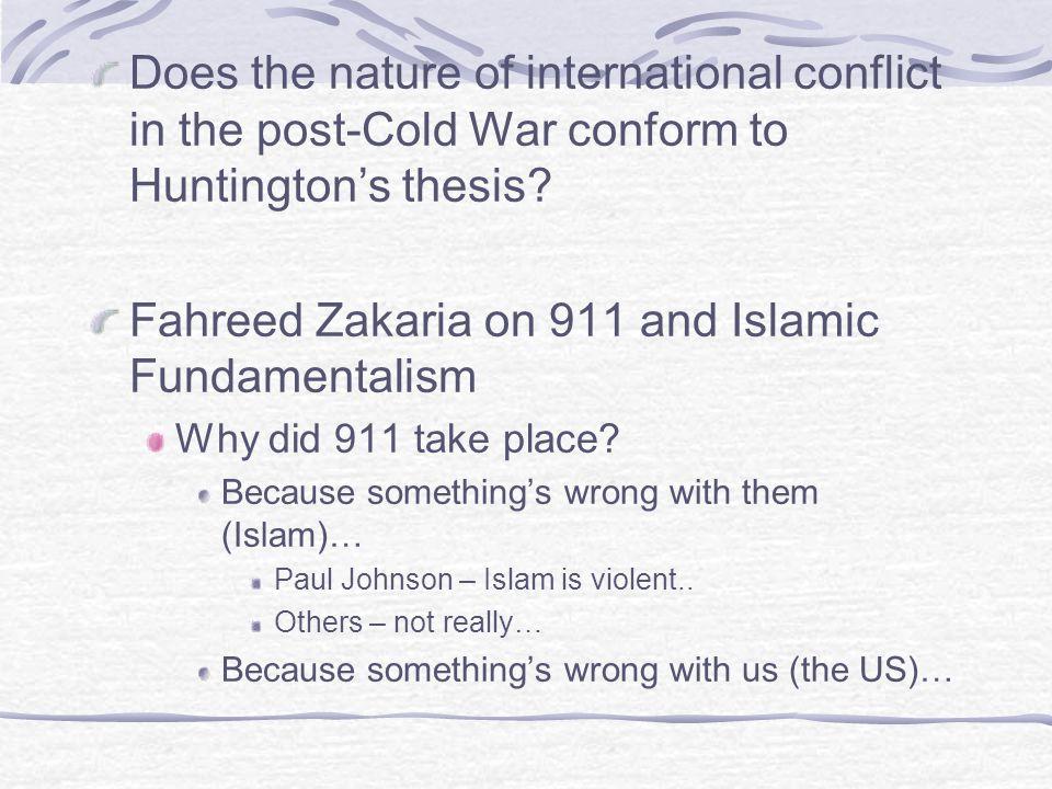 Fahreed Zakaria on 911 and Islamic Fundamentalism
