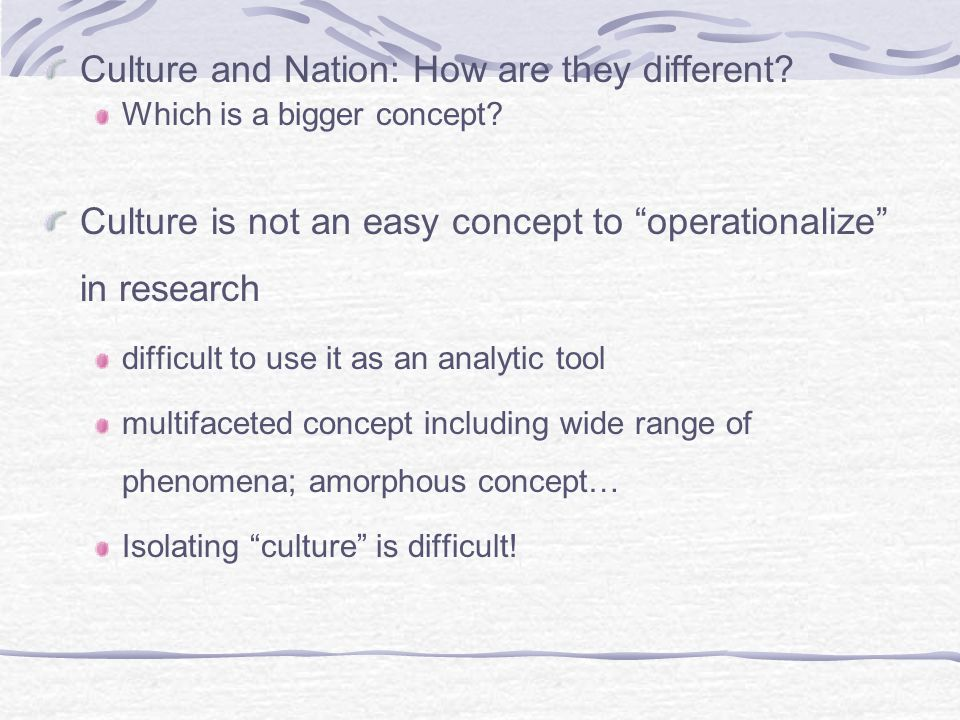 Culture and Nation: How are they different