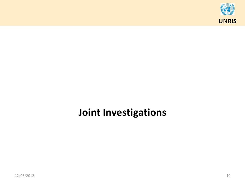 Joint Investigations 12/06/2012