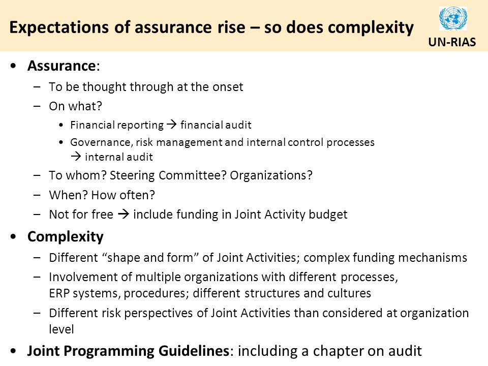 Expectations of assurance rise – so does complexity