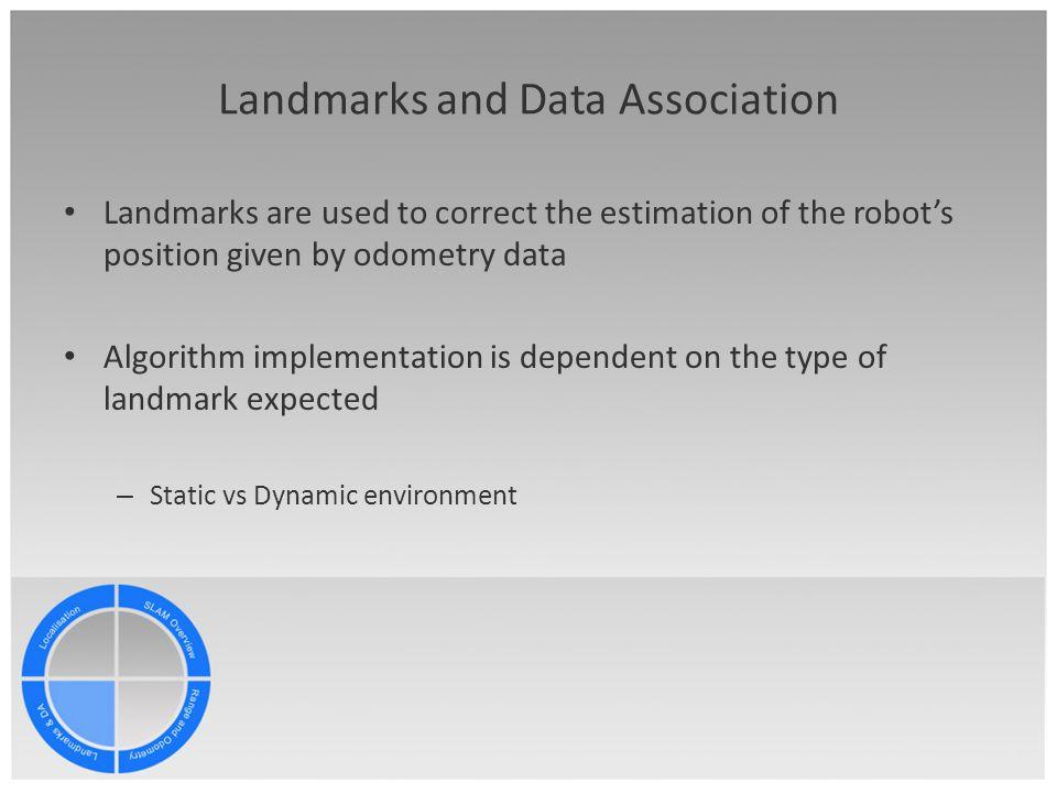 Landmarks and Data Association