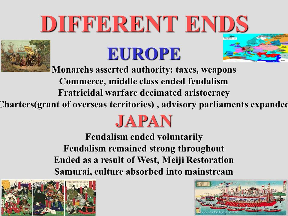 DIFFERENT ENDS EUROPE JAPAN