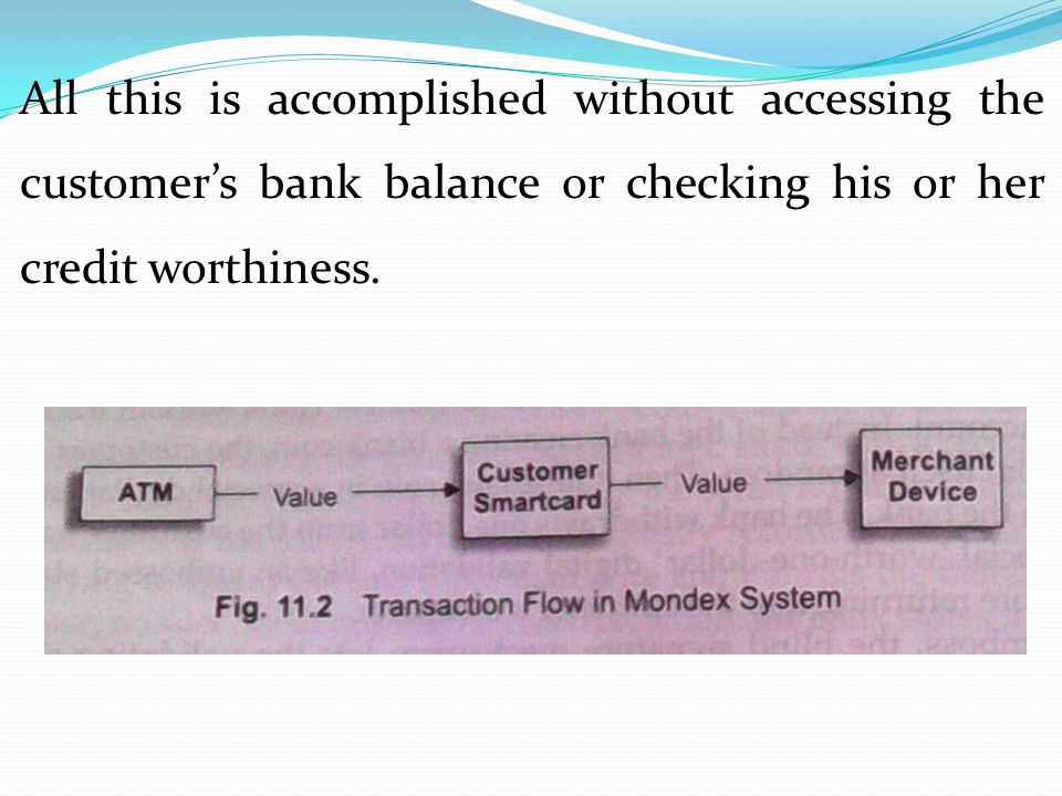 All this is accomplished without accessing the customer's bank balance or checking his or her credit worthiness.
