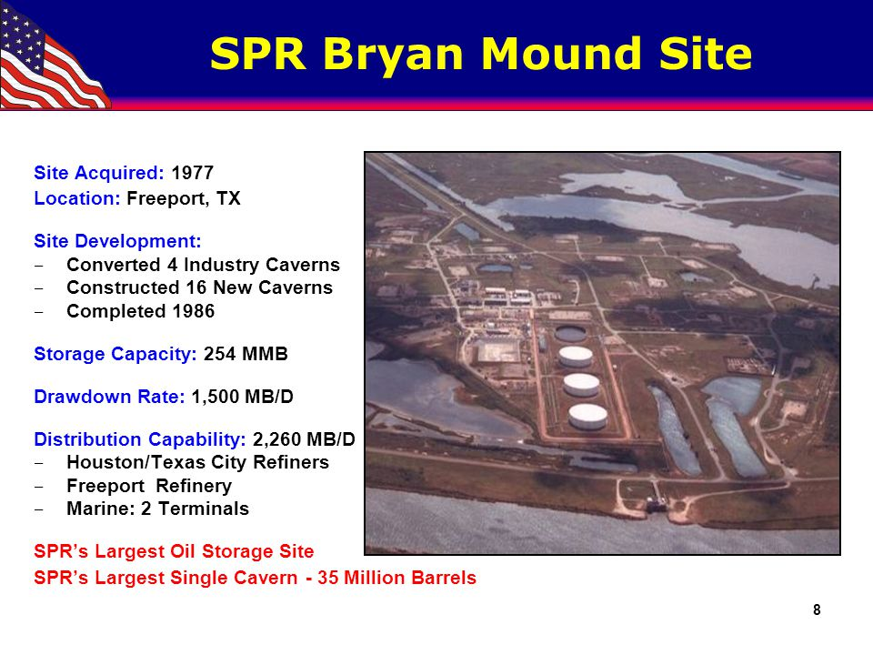 SPR Big Hill Site Site Acquired: 1982 Location: Winnie, TX