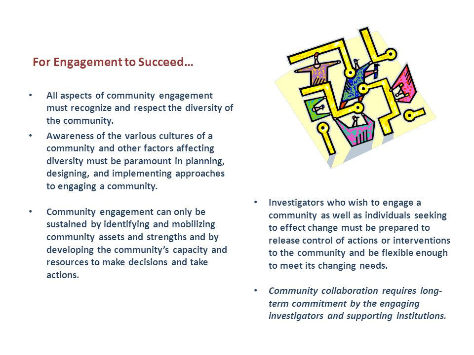 For Engagement to Succeed…