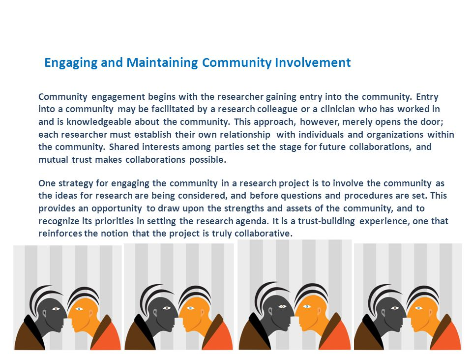 Engaging and Maintaining Community Involvement