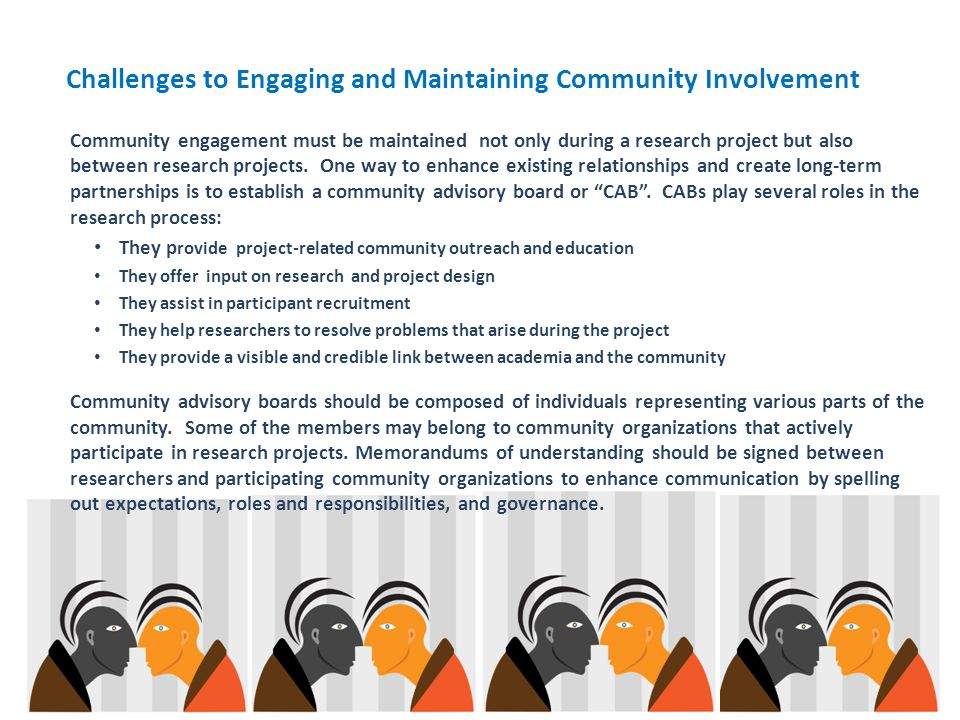 Challenges to Engaging and Maintaining Community Involvement