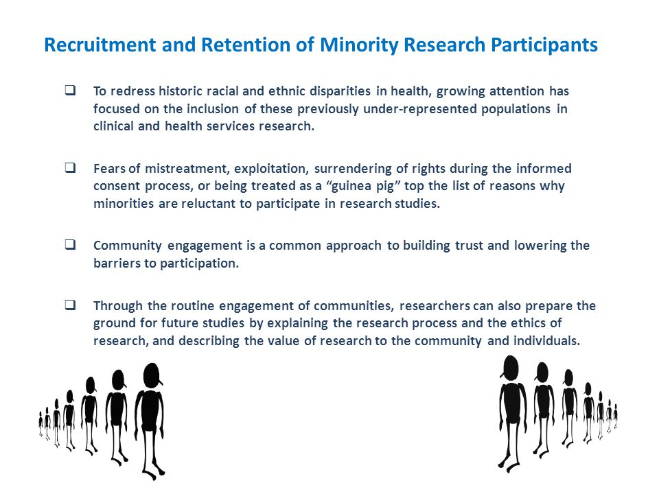 Recruitment and Retention of Minority Research Participants