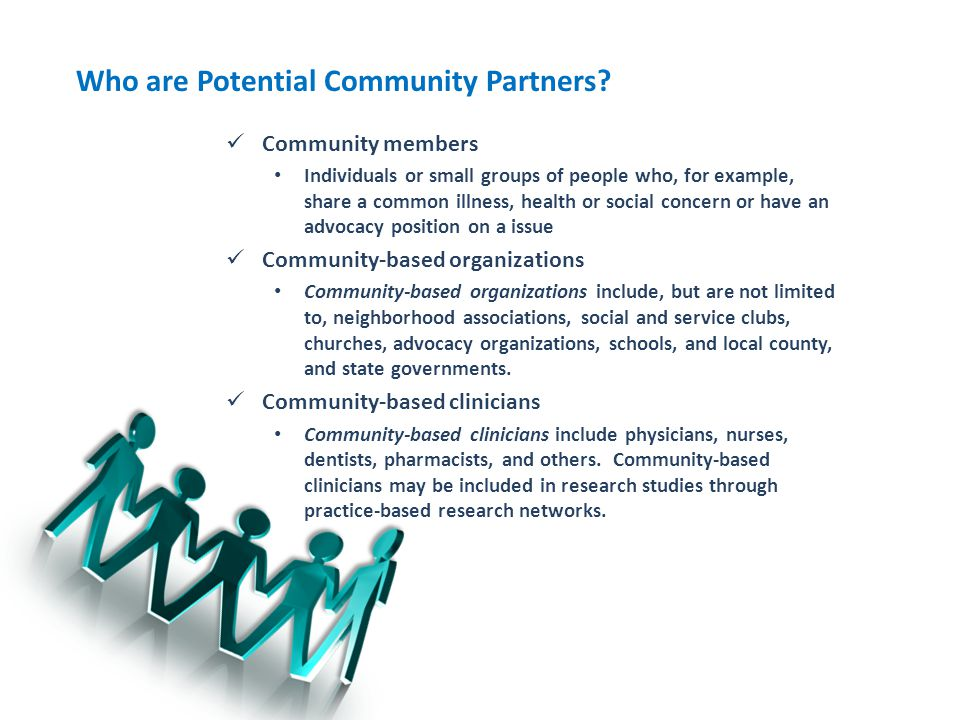 Who are Potential Community Partners