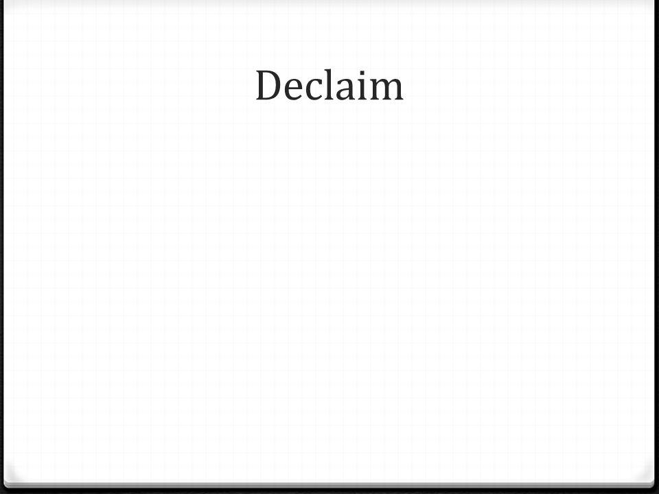 Declaim