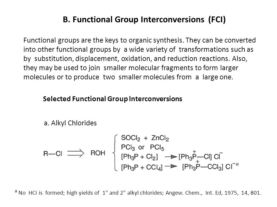 B. Functional Group Interconversions (FCI)