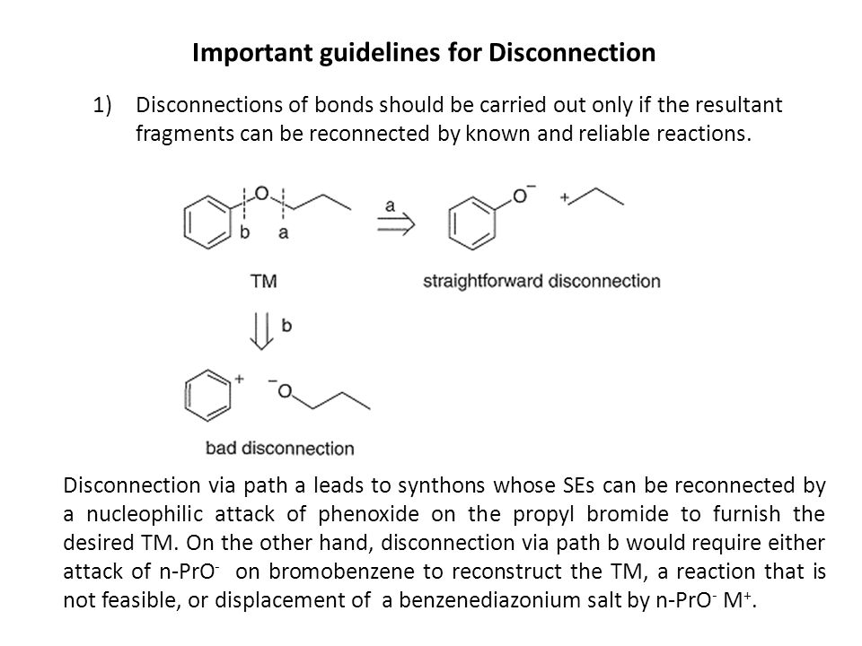 Important guidelines for Disconnection