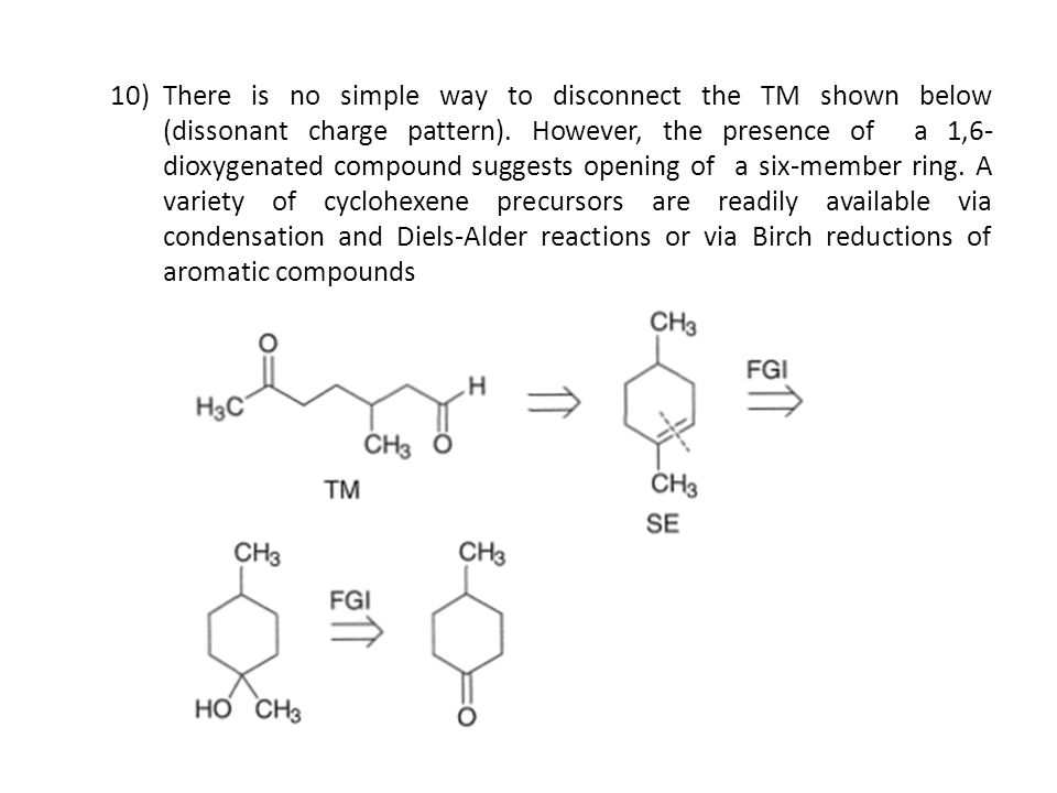 There is no simple way to disconnect the TM shown below (dissonant charge pattern).