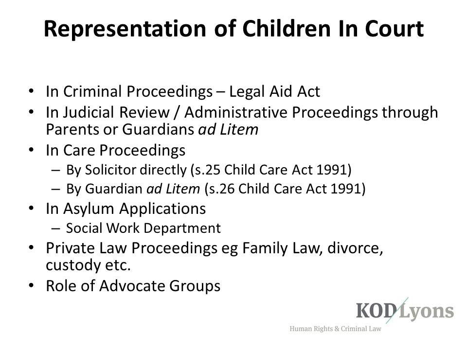 Representation of Children In Court
