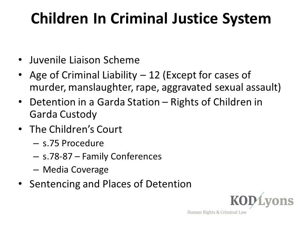Children In Criminal Justice System