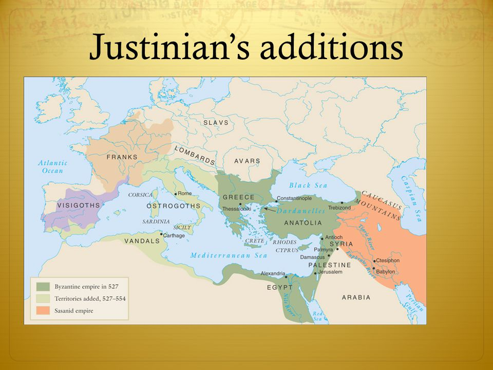 Justinian's additions