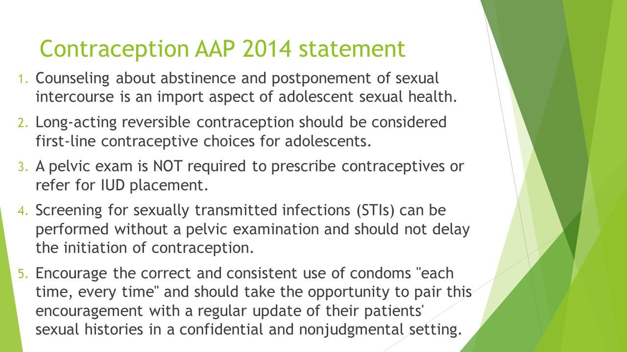 Contraception AAP 2014 statement