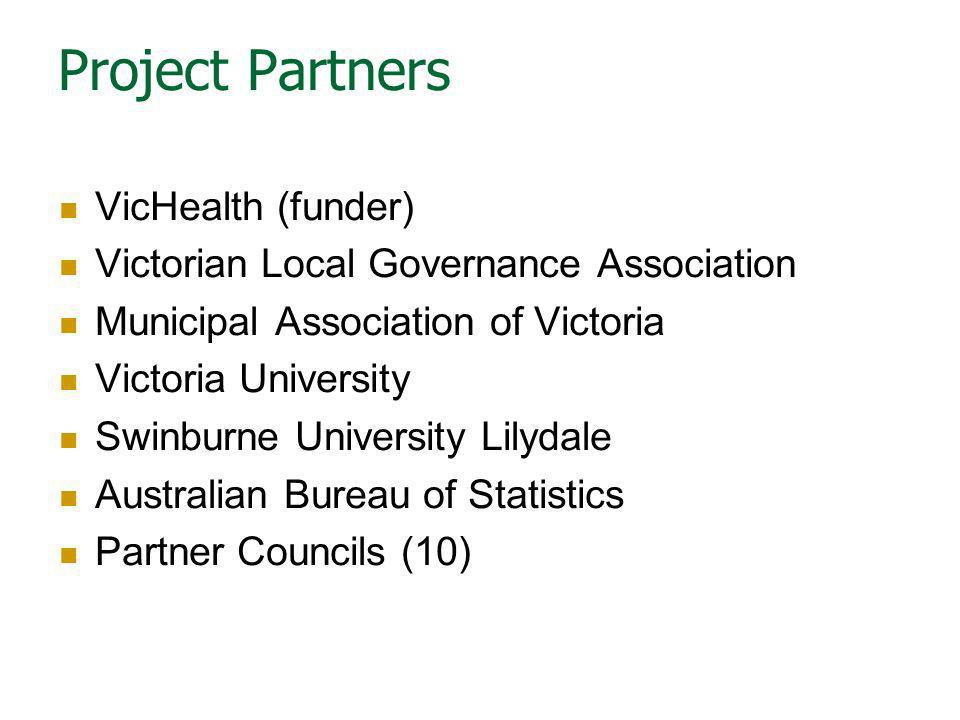 Project Partners VicHealth (funder)