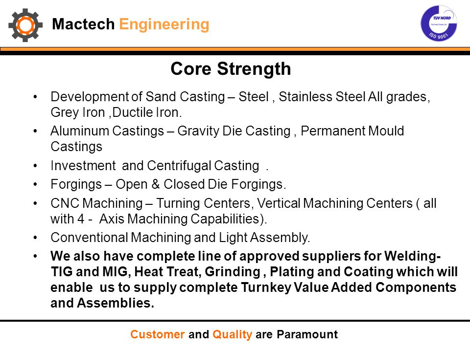 Core Strength Mactech Engineering